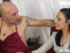 Castingallaitaliana - Giant Ass Italian Mature Very First Time Rough Assfucking On Camera
