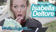 Cumshot in public Public agent sexy blonde australian isabelle deltore plays with a stranger for money