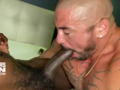 Devin Trez's Monster Uncut Cock Bb Raw Breeds Tatted Muscle Bottom