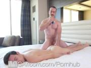 GayRoom Massage Blowjobs Drains Big Balls