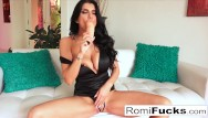 Free downloads ass large Romi stuffs her pussy with a large toy
