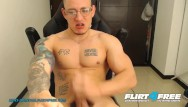 Home made monster gay Flirt4free - hans odinson - tatted hispanic hunk w big monster cock jerks off a big load on his abs