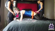 Strapon dommes fucking men 2 asian female dommes spitroast white male in surprise 3some part 1 of 5 - sideoflight