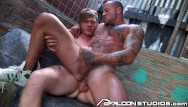 Gay guy muscular Falconstudios - guys plan to double team girl but would rather fuck each other