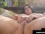 Thick Lovely Latina Angelina Castro Rubs Her Plump Pussy While Blowing Dick