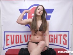Cheyenne Jewel vs Newcomer Miss Demeanor Female Sex Fight with Pussy Eating and Strapon Sex