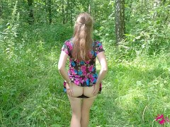 Hot Nubile Love Getting Off And Displaying Public Her Poon In Woods Till Stiff Orgasm