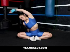 Kick-boxing And Pummeling With Bootie Babe