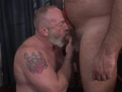 Hunk Brad Kalvo And Dad Platinum Hairy Man In A Super-hot Plow Session
