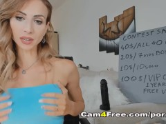 Babe Assfuck Frolicking With Thick Dildo