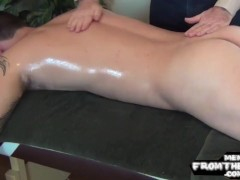 Cockteased Southern First-timer Blows A Load After Massage