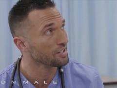 Icon Masculine - Medic Explore The Patient In A Rigid Way