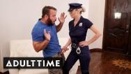 Busty milfs caught guy jerking Busty blonde babe in uniform caught guy masturbating