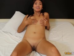 Trikepatrol Smallish Titty Chinese Gets Rained On By Cum
