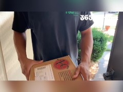 Package Delivery Driver Gets Successful & Porks Cops Wifey (married Cuckold Towheaded Cougar Milf Wants Bbc)