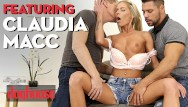 Outdoor double penetration Doghouse - european blonde claudia macc loves deep anal 3ways with big cock