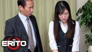 Pussy fillet Erito - slender japanese secretary gets her shaved pussy filled up with hot cum