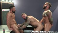 Muscle gay cock 3 hairy muscle strippers pound it out backstage - ragingstallion