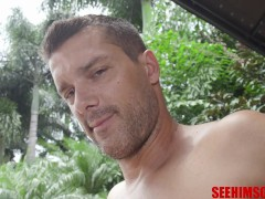 Venezuela Adult Movie Star Ramon Nomar Jerks His Gigantic Uncircumcised Prick