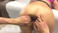 Extreme ass gaping Hot girl double fist fucked in her greedy gaping ass till its a prolapsing wreck