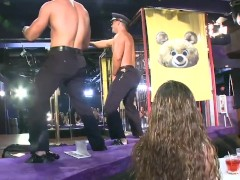 Dancingbear - Male Strippers Slangin' Massive Rod Into Super-steamy, Waiting Mouths