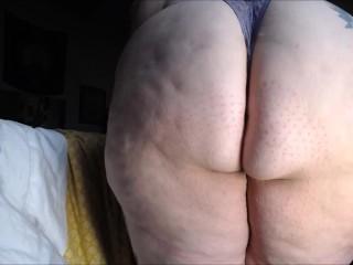 Huge Ass & Legs BBW Smoking a Bowl in Thong