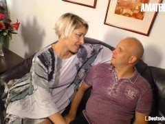 Deutschland Report - Big-boobed Big Caboose Senior German Cougar Homemade Pornography Flick With Her Unexperienced Husband