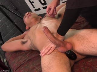 My finger hit Will's prostate, he totally froze & I could tell what was cumming