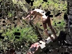 Heel trampling at a farm