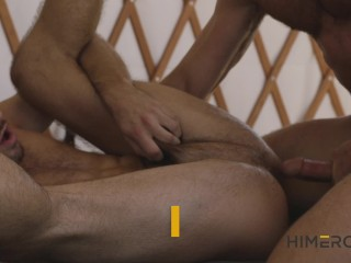 Reluctant Stud Joins Wild Bareback Group Sex Orgy