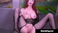 Redhead milf masturbation Sex crazy canadian cougar shanda fay fucks her mature muff until she cums