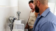 Gay amrriages Trashy men sucking big cock at a urinal