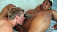 Fat men real sex videos Fat mature ebony lets a young white guy play with her