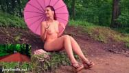 Naked myspace Sexy jeny smith got naked in public city park
