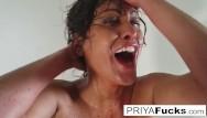 Priya sucks jordan Halloween tease with milf priya rai