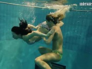 Hot erotic swimming pool poses