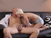 DADDY4K. Blonde coquette was dreaming about sex with seasoned man