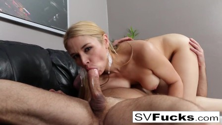 Hot Sarah gets fucked hard on the couch!