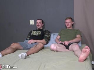 Huge Cock Military Studs Jesse Nice & Alex James Bareback Fuck