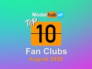 Top Fan Clubs of the month August 2020 - Pornhub Model program Gay edition