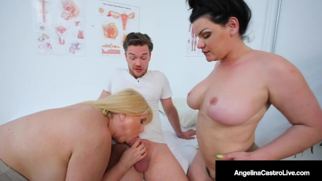 Big Ass Big Boobed Doctors Angelina Castro & Karen Fisher Milk A Hard Dick!