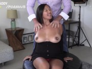 Natalia Cross bounces her big titties on daddy's dick for extra cash!