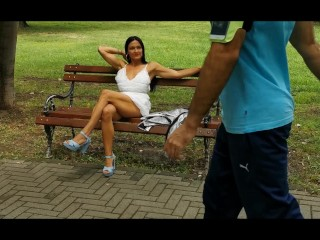 Milf Lilly completely naked in park
