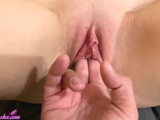 Boyfriend Passionate Fingering Pussy Hot Blonde after Waking Up