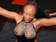 British Lola Marie interracial bukkake and cumshot party