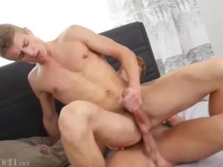 Wild gay sex fucking and cumming