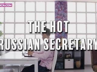 A dögös orosz titkárnő elcsábította a főnökét