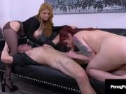 Slutty Step Sisters Penny Pax & Violet Monroe Drain Their Boss' Dick Dry!