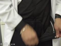 TS Nurse & Dr Rub Cocks Together Before Fucking - GenderX