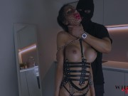 WHORNY FILMS- Submissive hot bimbo has fishnet fetish and loves to be spanked
